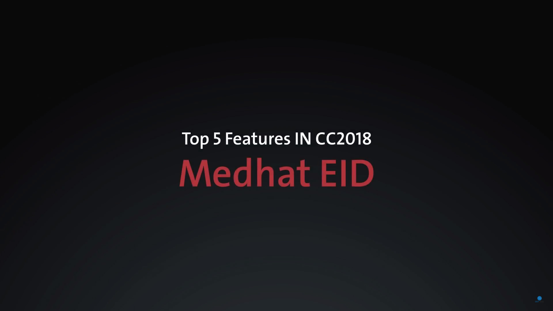 Feature CC2018 – Medhat Eid